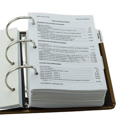 Droit des compagnies annoté et lois connexes 3